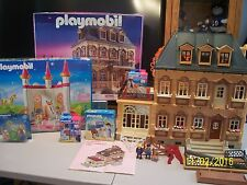 PLAYMOBIL #5300 VICTORIAN MANSION DOLL HOUSE & NEW UNICORN PALACE,PIZZA MAN&MORE