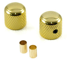 "FENDER TELECASTER STYLE TELE GUITAR DOME KNOBS GOLD (SET OF 2) *NEW* 1/4"" 6MM"