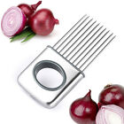 Onion Vegetable Tomato Holder Slicer Cutter Stainless Steel Kitchen Gadget Tools