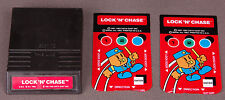 Vtg Intellivision Video Game-Lock 'n' Chase-2 Controler Overlay-1982-Manual-Cool