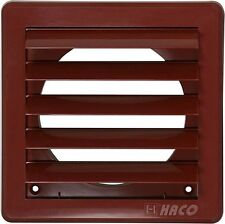 "Air Vent Grille Cover 5 Gravity Flaps 200x200mm (8x8"") BROWN Ø150mm (6"") Duct"