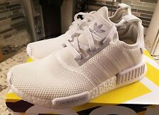 ADIDAS NMD TRIPLE WHITE - SIZE 9.5  - 100% AUTHENTIC - DEADSTOCK - MISSING BOX