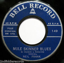 Mega Rare Rockabilly 45 From 1960-Mule Skinner Blues (Neil Frank)-BELL #149