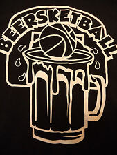 BEERSKETBALL BASKETBALL TEAM JERSEY t shirt sz XL beer bar SUPERB CONDITION