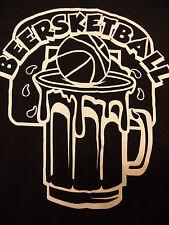 BEERSKETBALL BASKETBALL TEAM JERSEY t shirt sz XL beer bar SUPERB CONDITION