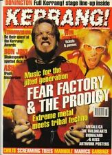 Fear Factory & The Prodigy on Kerrang Cover 1996  The Wildhearts  Kiss Metallica