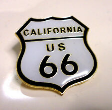 ZP88 Classic California Route 66 Shield Enamel Lapel Pin Badge Biker Motorcycle