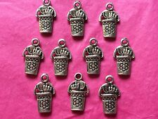 Tibetan Silver Bucket and Spade Charms- 10 per pack - Holiday/Seaside themes