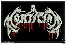 MORTICIAN EMBROIDERED PATCH BRUTAL DEATH Metal Negro