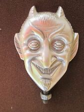 old school smiling devil,vintage satan, jester, ratrod, hotrod,car hood ornament