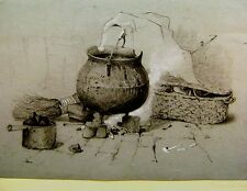ETON KEATE FAMILY ARCHIVE STILL LIFE COOKING POTS  PENCIL ROBERT KEATE C1840/50