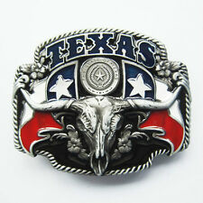 BRAND NEW TEXAS STATE COWBOY FLAG BLACK  BELT BUCKLE