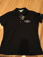 Nike Golf Shirt Ghirardelli Chocolate Women Medium Black Dri-Fit NWT
