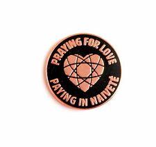 "Praying For Love heart Panic at the Disco Hard Enamel Lapel Pin 1.25"" black patd"