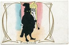 CHAT NOIR. OMBRE. BLACK CAT. SHADOW. LE CONCIERGE DE LA POSTE.