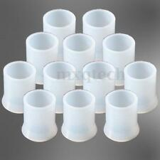 12pcs Soft Rubber Cigarette Cigar Smoking Pipe Tip Grips Stems Protector White