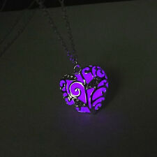 Fashion Distinctive hollow Love Heart Magic Fairy Glow In The Dark Necklace N48