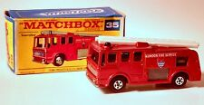 Vintage Matchbox Lesney Merryweather Fire Truck No. 35 with Box