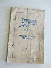 1960s Triumph motorcycle owners manual for the Triumph Tigress Scooter