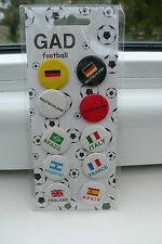 10 x fútbol WM copa del mundo buttons ele prendedor button em 2016