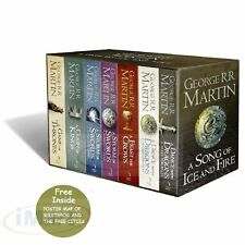 George R.R. Martin: A Game of Thrones Song of Ice and Fire 7 Volume Book Set|New