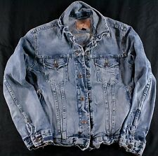 Womens AMERICAN EAGLE Denim JACKET size Small Distressed
