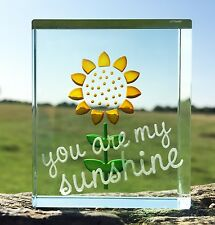 Spaceform Glass Token Sunflower You Are My Sunshine Keepsake Xmas Gift Box