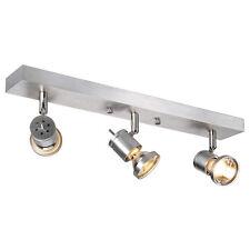 Intalite ASTO III pareti e lampadario a soffitto,alluminio spazzolato,3x GU10,