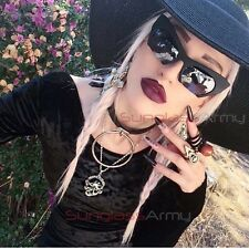 Cut Off Cat Eye Sunglasses BLACK pin up girl retro women rockabilly gothic goth