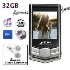 32GB 32G 1.8'' LCD Screen Slim MP4 MP3 Music Player FM Radio Video Novel Movie