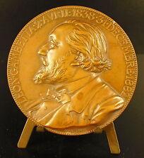 Médaille à Léon Gambetta homme politique Quo Jussa Populi sc Chaplain medal