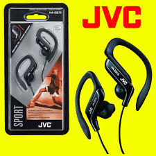 JVC HA-EB75B BLACK SPORTS ADJUSTABLE EAR CLIP EARPHONES HEADPHONES GYM RUNNING
