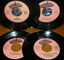 """* * 4 UNPLAYED MINT SHANGRI-LAs 45s: """"REMEMBER/OUT IN THE STREET/BLESSING"""" +1!"""