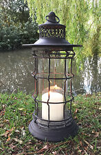 Large Fishermans Lantern Candle Holder Style Home or Garden Antique Vintage