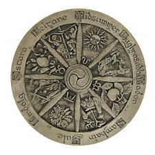 Wheel of the Year Wall Plaque - Stone Finish - Dryad Designs - Wicca Pagan Wicca