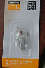 Pack 6 (3 packs of 2) Wickes TBA-CG Halogen MR11 GU4 12V 10w 36D  Bulbs 2000h