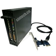 Sintech PCI express PCI-e X1 to dual PCI riser card 4 serial parallel sound card