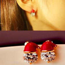 Weihnachtsmütze Crystal Gestüt Ohrringe Damen Ohrring Schmuck Weihnachtsgeschenk