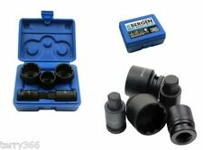 VW AUDI 5pc HUB-NUT SOCKET /BIT SET 24 30 32mm 12pt Sockets 14mm17mm Hex Bits