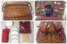 Picnic Time Highlander Willow Picnic Basket for Four