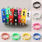 Silicone Stainless Steel Stud Rivet Spike Cuff Bracelet Bangle Wristband Jewelry