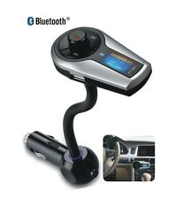 Bluetooth MP3 3.5mm FM Transmitter Car Charger Steering Wheel Remote