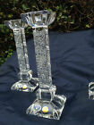 BOHEMIA QUEEN LACE HAND CUT 24% LEAD CRYSTAL CANDLE HOLDER 8