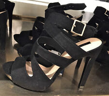 ZARA BLACK HIGH HEEL SANDALS WITH BUCKLE SIZE 9 SOLD OUT