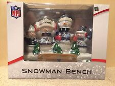 NFL Dallas Cowboys Team Resin Snowman Bench Statue - new in box
