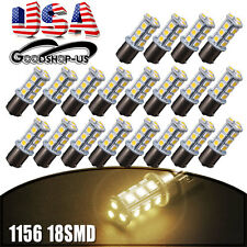 20x Warm White 4500K 1156 RV Camper Trailer Interior Light 18-LED 1141 1003 Bulb