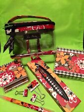 NEW Vera Bradley 3-1-1 Cosmetic Gift Lot in Bittersweet Pen Notepad Stickies
