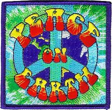 PEACE ON EARTH   IRON ON  PATCH BUY 2 GET 1 FREE