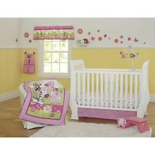 NEW Sunny Safari Garanimals Crib SET Comforter Sheet Ruffle Bumpers Baby Girl
