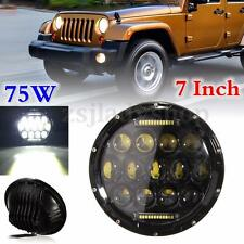 7'' HID LED H4-H14 DRL Hi/Lo Beam Headlight Daymaker For Harley Jeep Hummer 75W